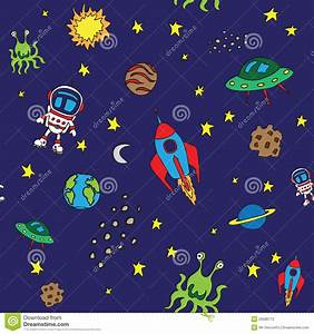 Seamless Outer Space Pattern Stock Vector - Image: 29986712