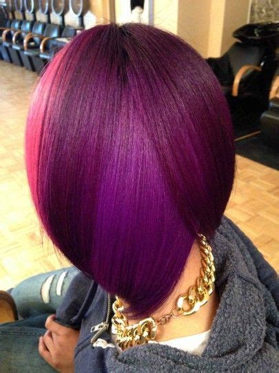 rock  bob  deep purple colors  haircut web