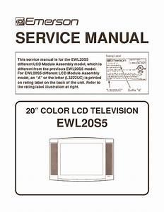 Emerson Emerson Lcdewl20s5 Emerson Ewl20s5 Lcd Tv Service