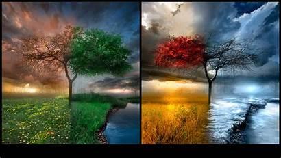 Desktop Wallpapers Background Seasons Change Changing Theme