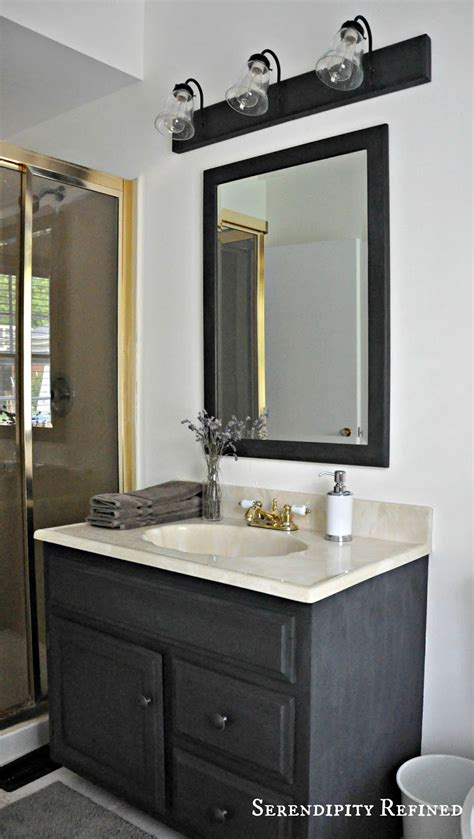 Pictures Of Bathroom Light Fixtures by Serendipity Refined How To Update Oak And Brass