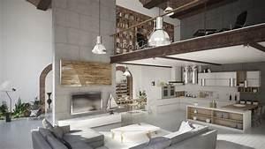 Salon Style Loft Industriel