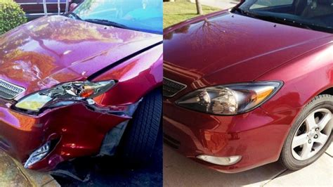 wrecked car before and after navigating auto repair shops and insurance after a car