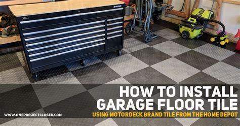 install garage floor tile motordeck tile