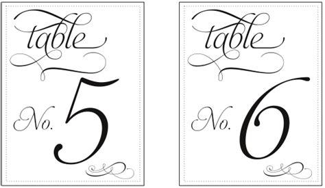 wedding table numbers template printable table number templates vastuuonminun