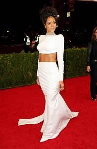 Rihanna Wearing Stella McCarteny – 2014 Met Costume ...  Wearing