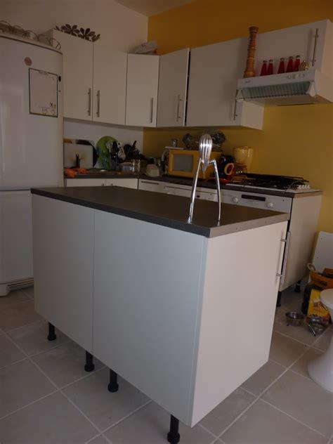 meuble ilot central pas cher cuisine en image