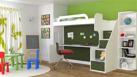 cool bunk bed desk combo ideas for sweet bedroom