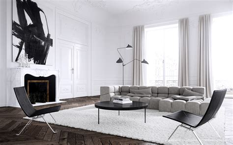 Contemporary Home Style By Bb Italia by Showcase Apartment Interior Design By Vedel