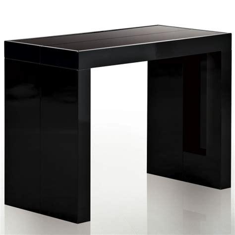 console extensible noir laque table console extensible isa noir laqu 233 design et 233 l 233 gant tooshopping