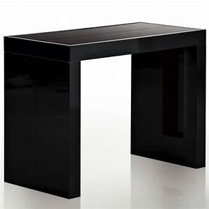 Table Haute Noire : table console extensible isa noir laqu design et l gant ~ Teatrodelosmanantiales.com Idées de Décoration