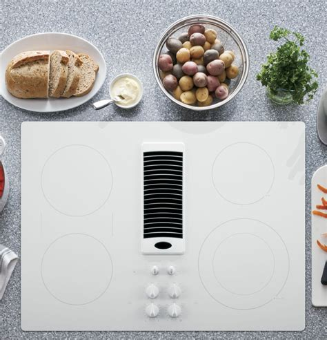 pptjww ge profile series  downdraft electric cooktop white