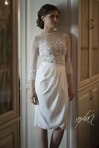 short wedding dress white and nude bridal gown by apilat With nude lace wedding dress