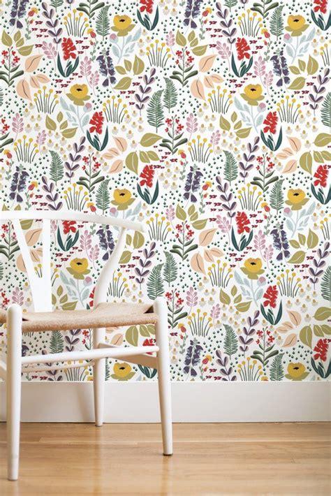 Wandgestaltung Kinderzimmer Wiese by Mountain Meadow Removable Wallpaper White Ideen Rund