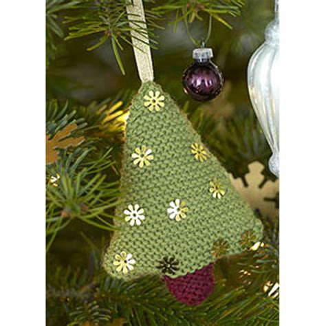 knit a christmas tree decoration free pattern knit and
