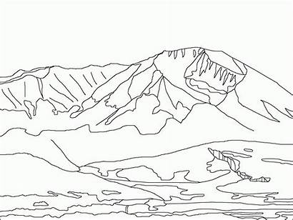 Coloring Mountains Rocky Pages Printable Train Colorado