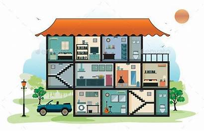 Interior Clipart Cartoon Inside Vector Illustration Building
