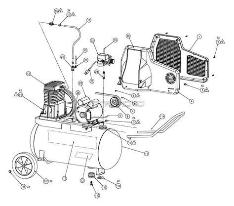 Powermate Air Compressor Wiring Diagram by Sanborn Parts M109cl300 20 M109cl300 22