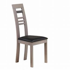 Chaises salle a manger design une touche rustique u0026 for Meuble salle À manger avec chaise cuir noir salle manger
