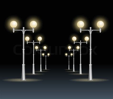 who to call when street light is out street lanterns on a white background night dark sky