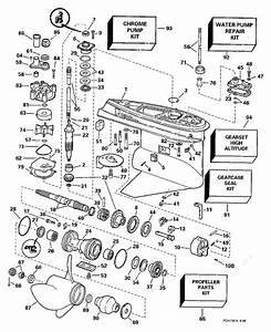 Evinrude 1997 150 - Se150wtplt  Gearcase