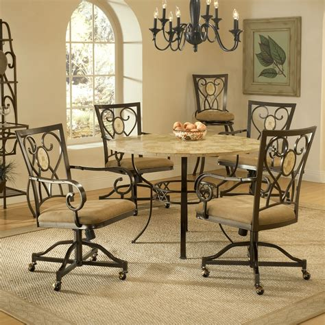 kitchen chairs  casters  arms easyhometipsorg