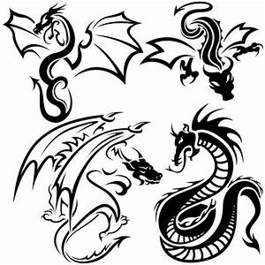 Cool Easy Dragon Tattoo Designs Draw Kcfdt   Paper and ...
