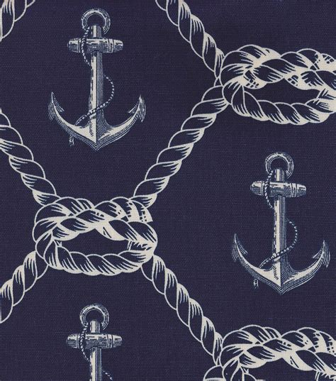 Nautical Upholstery by Nautical Fabric Anchors Rope Home Decor Jo