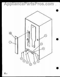 Parts For Amana Bz20ql    P1125507w L  Cabinet Back Parts