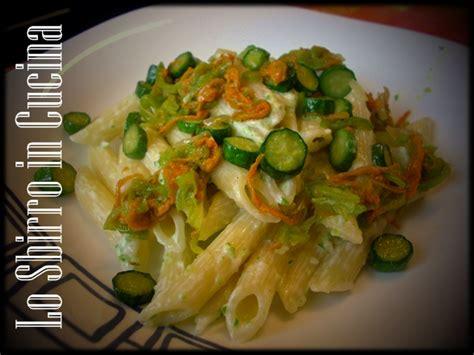 pasta fiori di zucchina penne cremose ai fiori di zucchina ricette cucina dello
