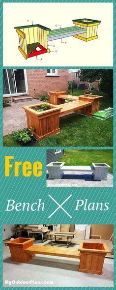 planter bench ideas  pinterest