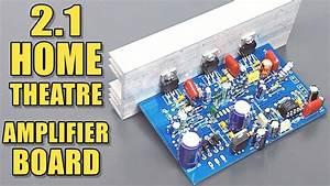 2 1 Home Theatre Audio Amplifier Board With Tda2030 Ic Diy