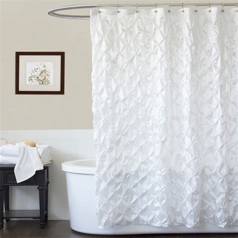 lush shower curtain lush decor quartet white shower curtain at hayneedle