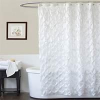 white shower curtain Lush Decor Quartet White Shower Curtain at Hayneedle