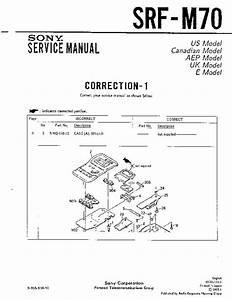 Sony Srf-m70  Serv Man2  Service Manual