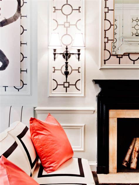 black  white living room hollywood regency living