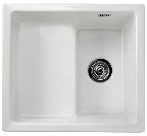 small kitchen sinks uk rak gourmet 16 belfast style fireclay inset or undermount sink 5505