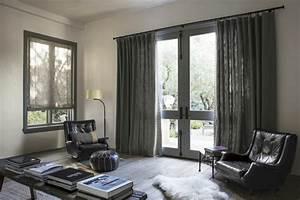 Rideau Salon Gris : rideau contemporain decoration meuble oreiller matelas ~ Teatrodelosmanantiales.com Idées de Décoration