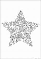 Christmas Pages Star Coloring Print Printable Holidays Coloringpagesonly sketch template