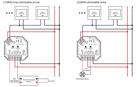 rfwifi control ac phase cut dimmer  push dim sr