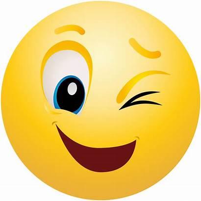 Smiley Face Wink Emoji Winking Vector Clipartmag