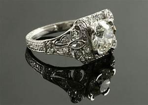 antique engagement rings jonathan39s diamond buyer With wedding band for antique engagement ring