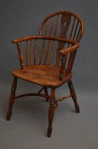 Early, Victorian, Yew, Wood, Windsor, Chair