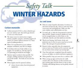 Winter Workplace Safety Topics