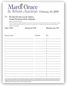 silent auction bid sheet template 6 silent auction bid sheet templates formats exles in word excel