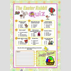Easter Rabbit Quiz Worksheet  Free Esl Printable Worksheets Made By Teachers
