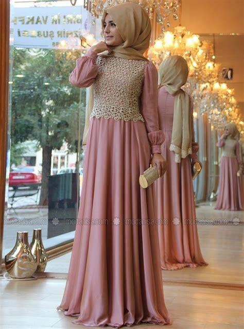 fashion women dress pink   lace  neck beautiful
