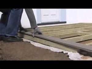 pose d39une terrasse en bois composite vidoemo With comment faire une terrasse en composite
