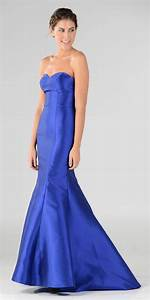 Royal Blue Lace Up Back Strapless Mermaid Prom Dress Long ...