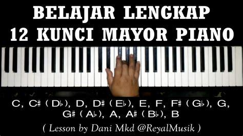 belajar piano dasar  kunci chord mayor